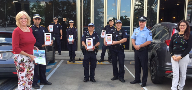 Donating Rabenhorst juices to local police station with Brisbane City Cr Kim Marx