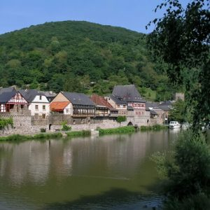 Lahnstein on a tributary of the Rhine River in Germany