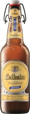 Leikeim non-alcoholic weissbier wheat beer in swingtop bottle