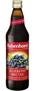Rabenhorst Blueberry Nectar - organic - 750ml bottle